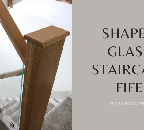 Shaped Glass Staircase Fife