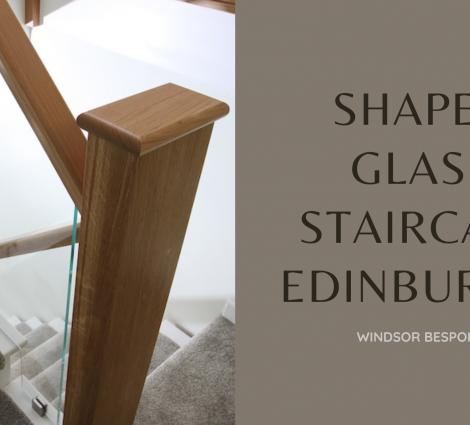 Shaped Glass Staircase Edinburgh
